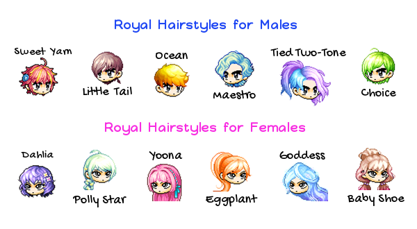 Hair Style Voucher Maplestory 2: Royal Hairstyle Coupon Maplestory