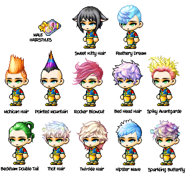 Maplestory All Hairstyles