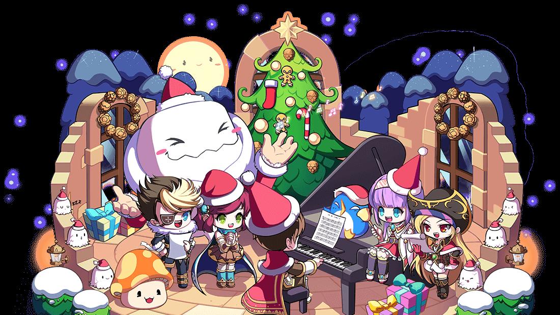 MapleStory 2020 Christmas Illustration Full