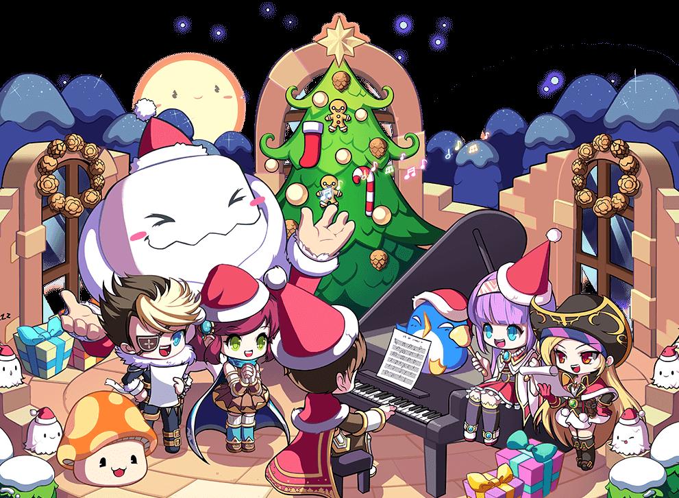 MapleStory 2020 Christmas Illustration